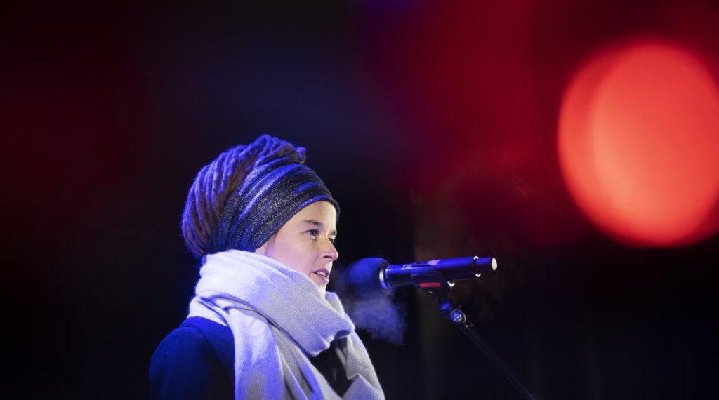 Foto på Amanda Lind tagen av Nils Petter Nilson/Regeringskansliet.